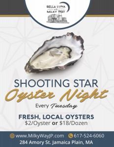Shooting Star Oyster Night @ Bella Luna Restaurant and The Milky Way Lounge