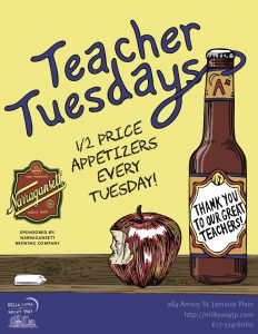 Teacher Tuesdays @ Bella Luna Restaurant & Milky Way Lounge