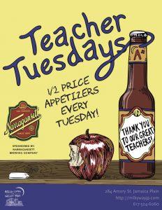 Teacher Tuesdays @ Bella Luna Restaurant & Milky Way Lounge